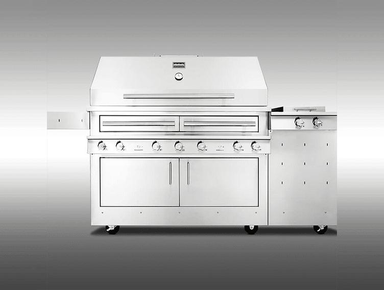 K1000HS Hybrid Fire Freestanding Grill with Side Burner ...