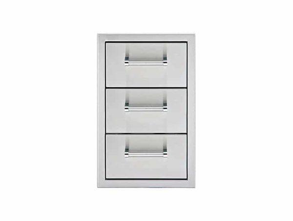 13 triple storage drawers