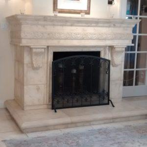 Aaron custom fireplace mantel