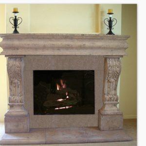 Acanthus fireplace mantel