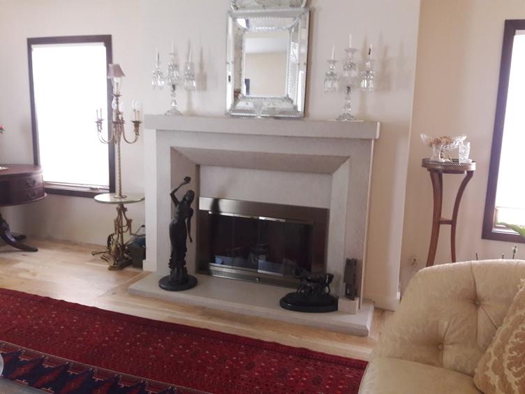 Contemporary Mantel With Shelf Encino Fireplace Shop
