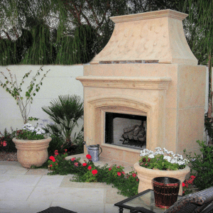 French country fireplace mantel