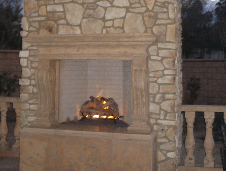 Monterey Fireplace Mantel On Stone Encino Fireplace Shop