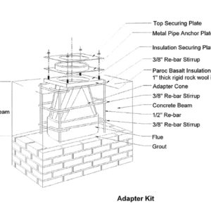 Adapter kit chimney component 1