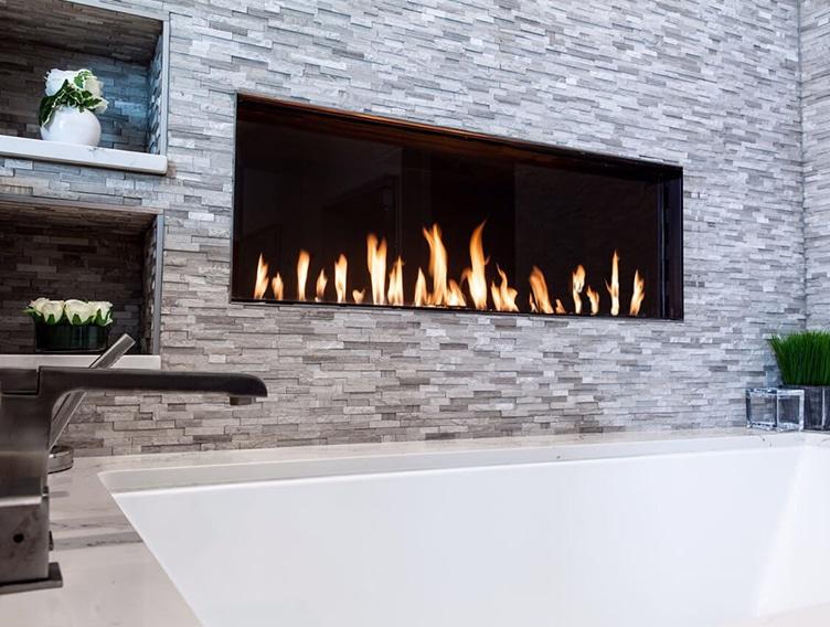 Front Facing Fireplace Contemprary Fireplace Encino Fireplace